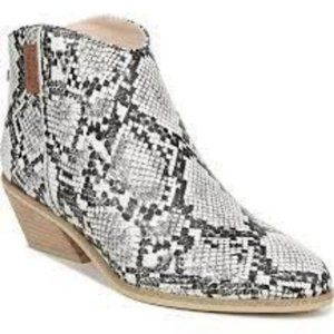 Dr. Scholl's snake print bootie white, grey 7